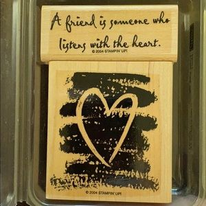 """2004 Stampin' Up!""""Listen with the Heart """" 2 pc set"""